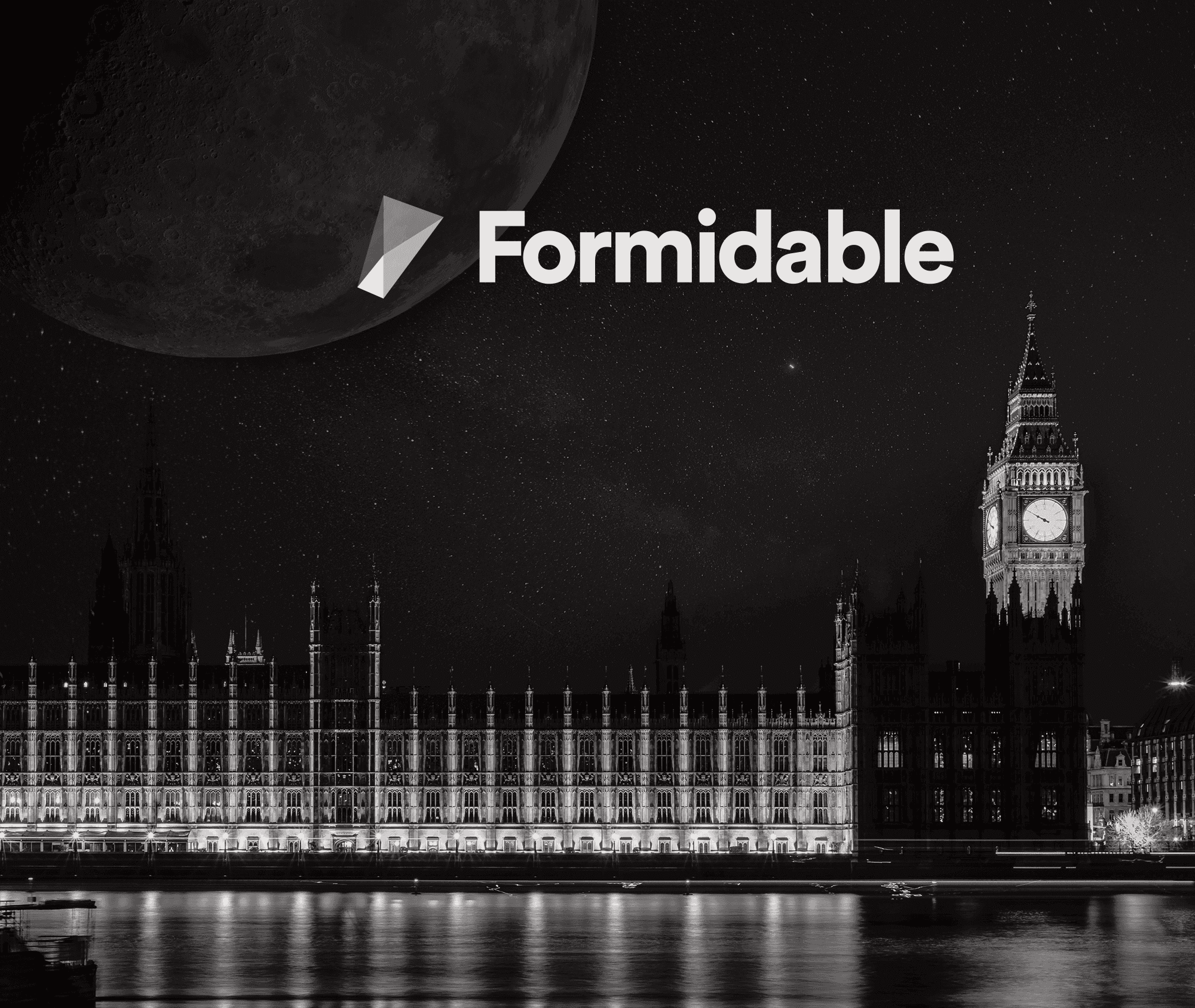 Formidable logo on London night sky